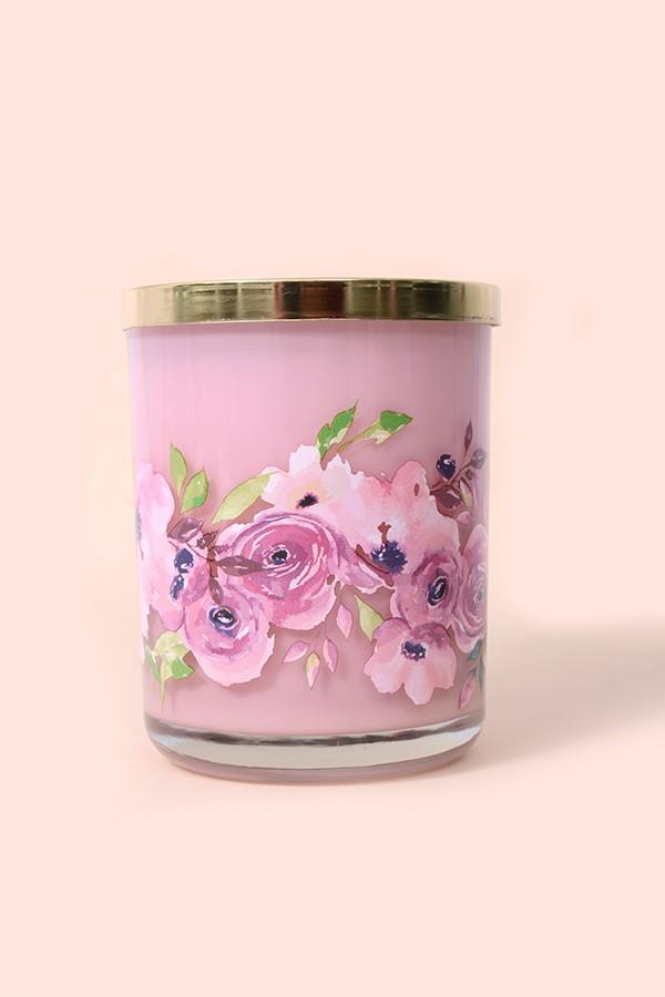 Petunia Pink 15 Oz Jar Scented Candle