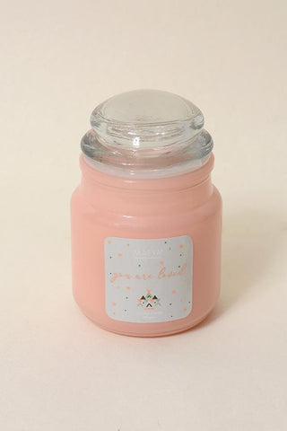 3 Oz Jar Scented Candle - Peony Rose