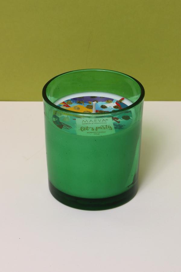 Green Glass Candle