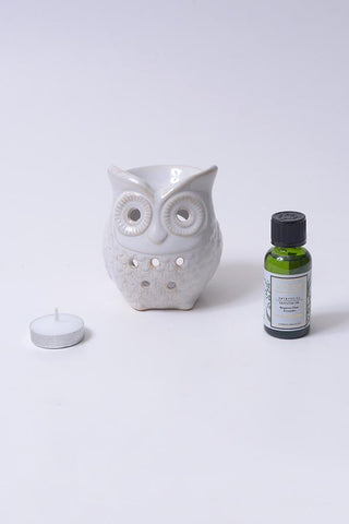 Owl Ceramic Burner - Aromatherapy Set