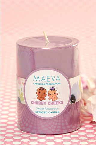 "Baby Shower Scented Layer Pillar 3"" x 4"" Candle"