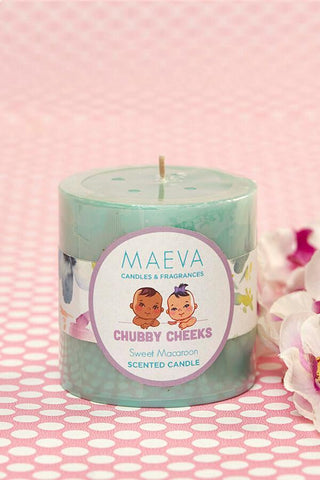 "Baby Shower Scented Layer Pillar 3""x 3"" Candle"