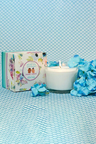 Baby Shower Flared Glass Candle In A Gift Box