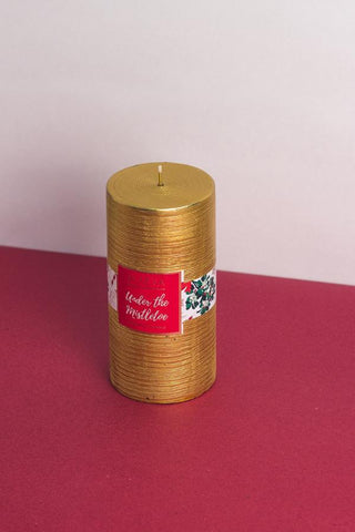 Christmas Pillar Candle - L