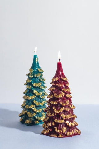 Christmas Tree Candles - Pk of 2