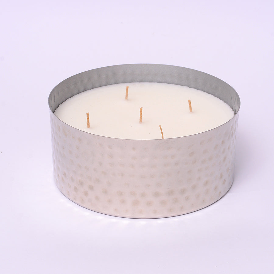 Silver Multi-Wick Scented Candle - Medium