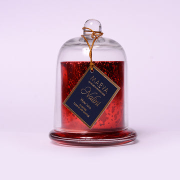 Nalini Red Cloche Jar Candle - S