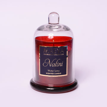 Nalini Red Cloche Jar Candle