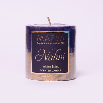 Nalini Purple Pillar Candle - S