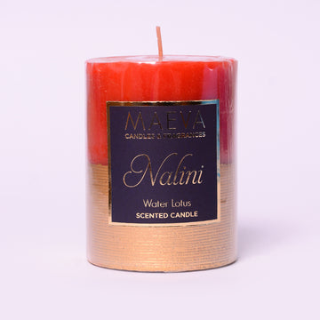 Nalini Red Pillar Candle - M
