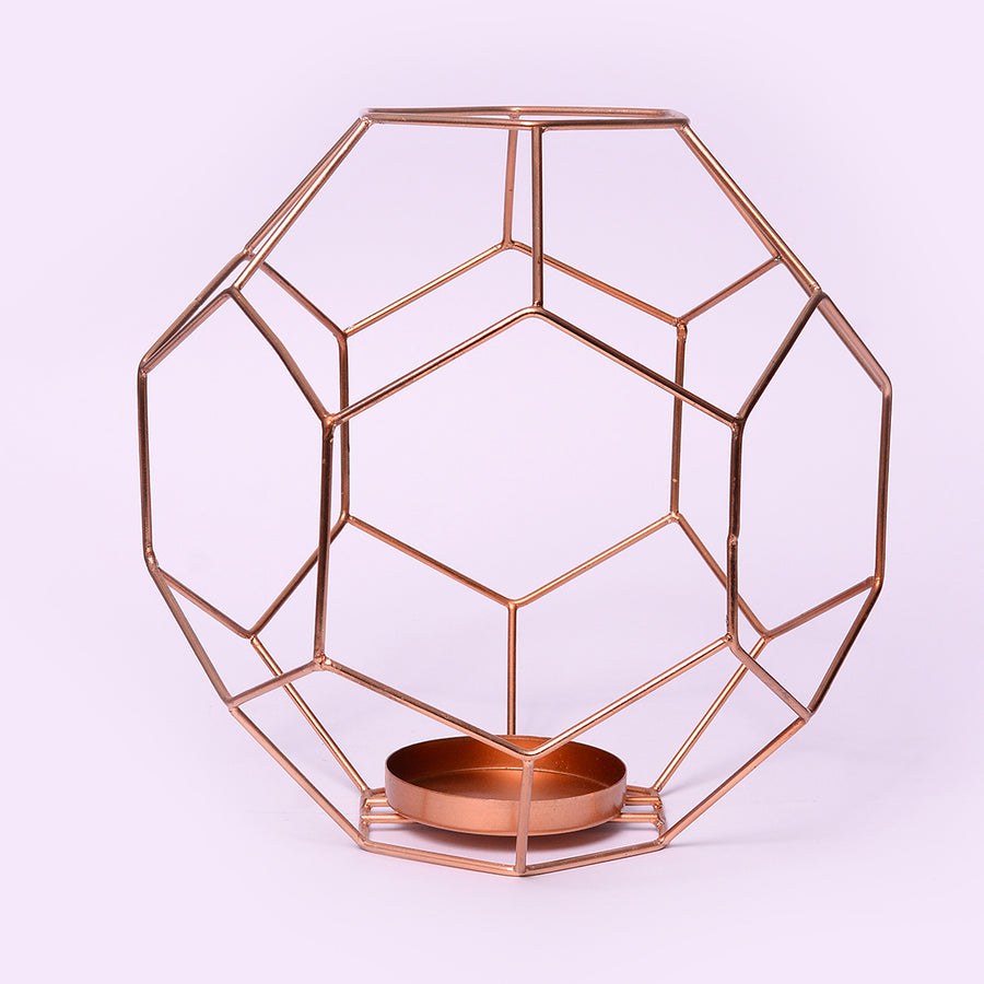 Copper Geo Candle Holder