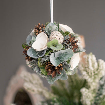 Winter Green Bauble Decor