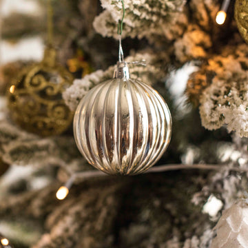 Silver Bauble Decor - Set of 2