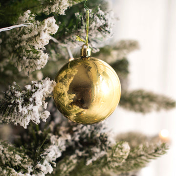 Golden Glossy Bauble Decor - Set of 2