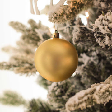 Golden Matte Bauble Decor - Set of 2