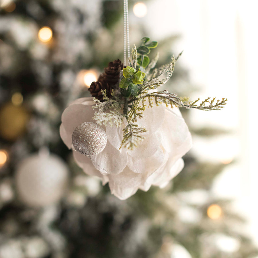Silver Tone Bauble Decor