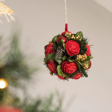 Rosy Red Bauble Decor