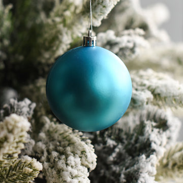 Aqua Blue Matte Bauble Decor - Set of 2