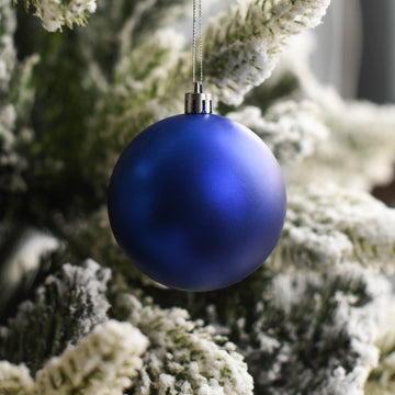 Blue Matte Bauble Decor - Set of 2