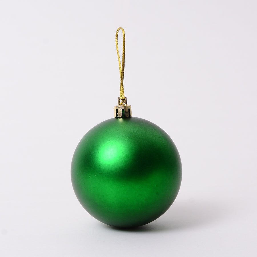 Green Matte Bauble Decor - Set of 4