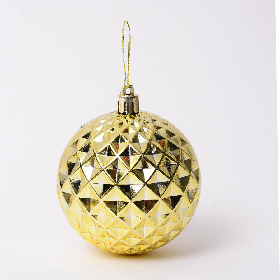 Golden Geometrical Bauble Decor - Set of 2