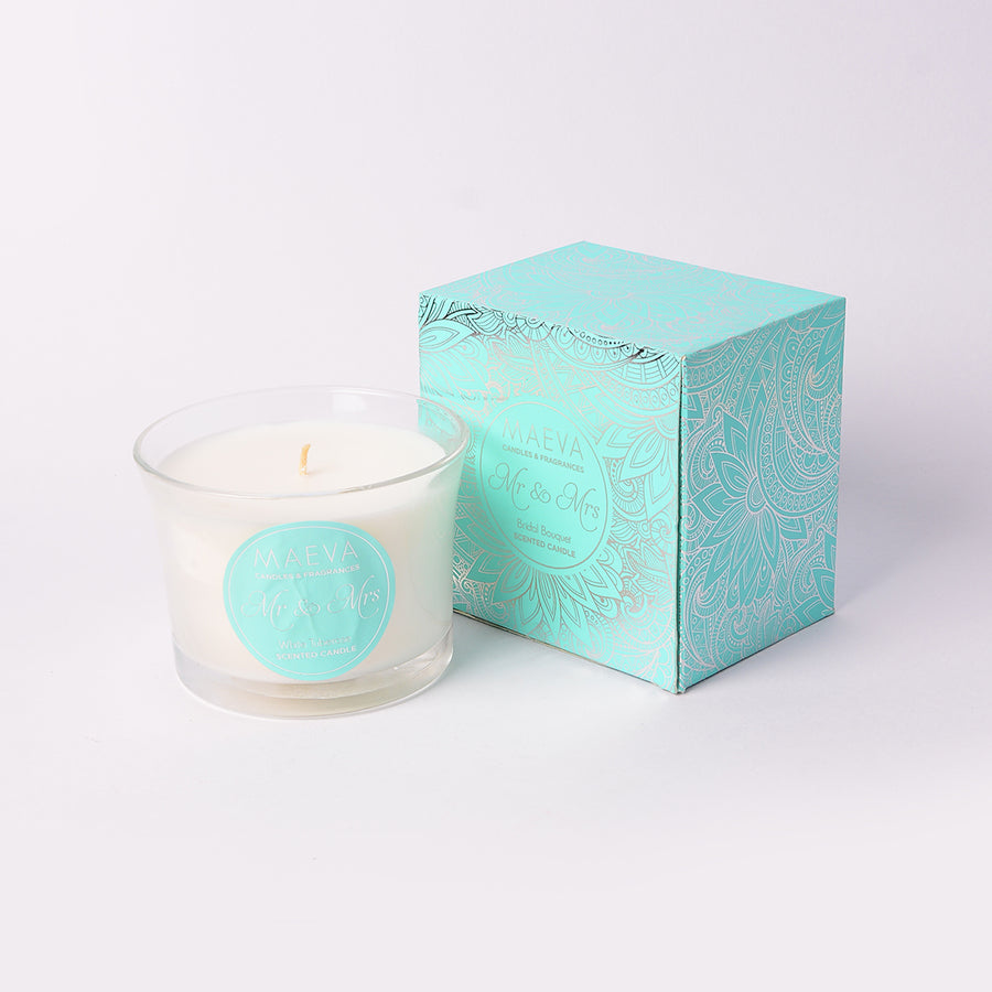 Wedding Flared Glass Candle