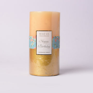 Birthday Pillar Candle - LARGE