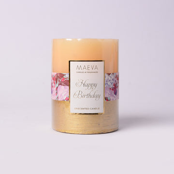 Birthday Pillar Candle - MEDIUM