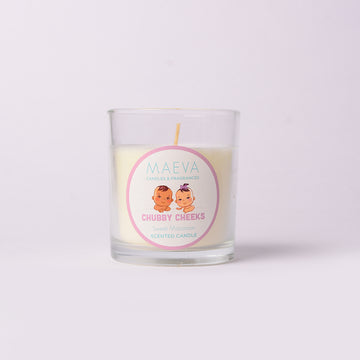 Baby Shower Clear Glass Candle