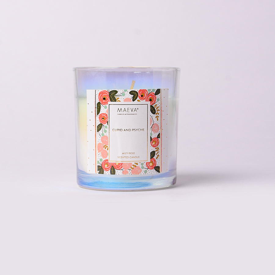 Cupid & Psyche Iridescent Glass Candle