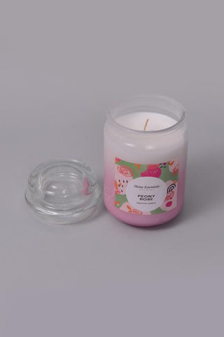 Peony Rose Bubble Jar Candle - L