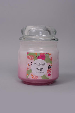 Peony Rose Bubble Jar Candle - S