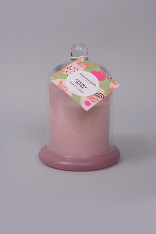 Peony Rose Cloche Jar Candle