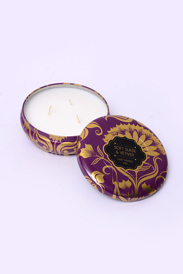 Soft Suede & Vetiver Scented Candle