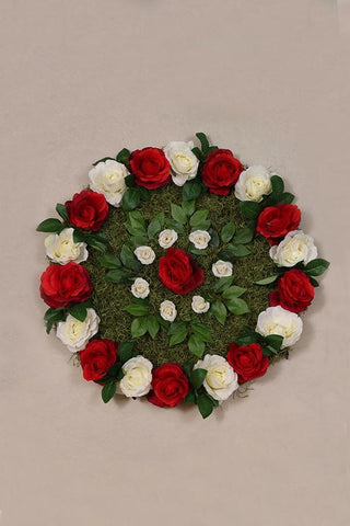 Enchanted Rose Rangoli  Mat