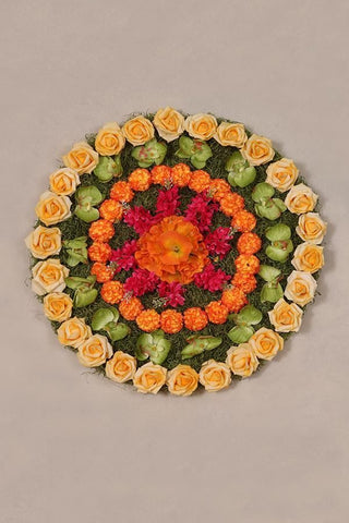 Orange Blossom Rangoli Mat