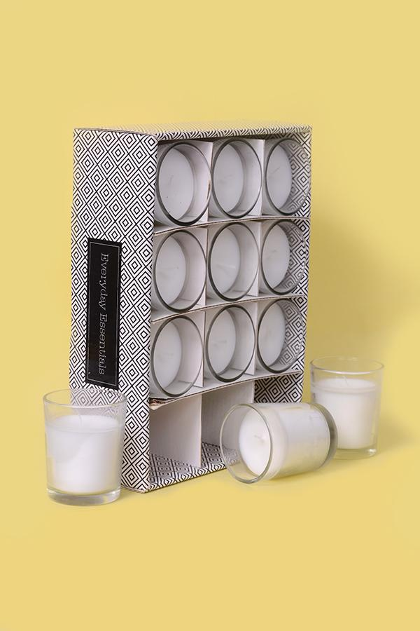 Every Day Votive Shot glass candle - Pack of 12