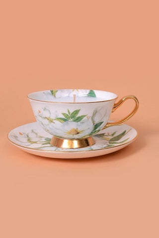 Jade Tea Cup Candle