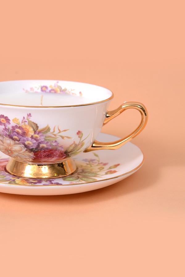 Fiona Vintage Tea Cup Candle