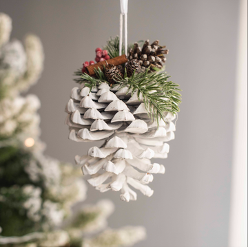 White Pine Cone Ornament
