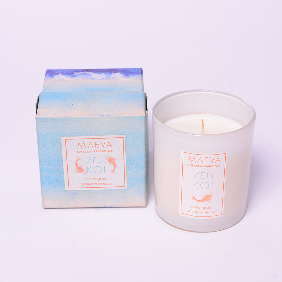 Spa White Glass Candle