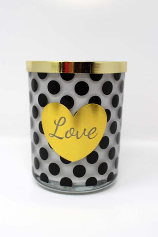 "Cupid & Psyche 15 Oz ""LOVE"" Jar Scented Candle"