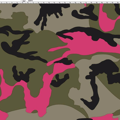Camouflage neonpink bomuldsjersey