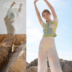 Beautiful editorial for Flanelle Magazine featuring our Pleated Silk Palazzo Pants!