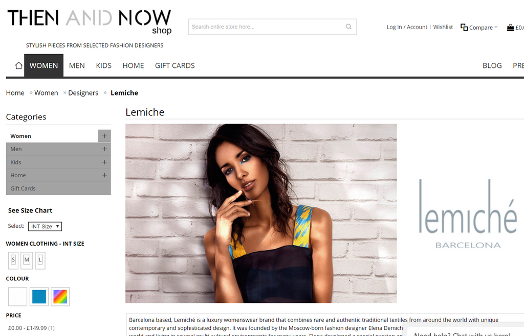 Lemiché at THEN AND NOW Shop