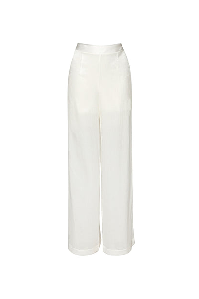 PLEATED SILK PALAZZO PANTS - Lemiché