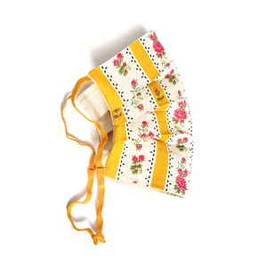 WASHABLE COTTON FACE MASK - YELLOW CRETONE - Lemiché