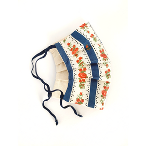 WASHABLE COTTON FACE MASK - BLUE CRETONE - Lemiché