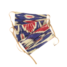 Load image into Gallery viewer, WASHABLE COTTON FACE MASK - UZBEK IKAT - Lemiché