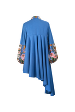 "Load image into Gallery viewer, ""SUNSWIRL COCKTAIL"" DRESS – BLUE CAMPINA - Lemiché"